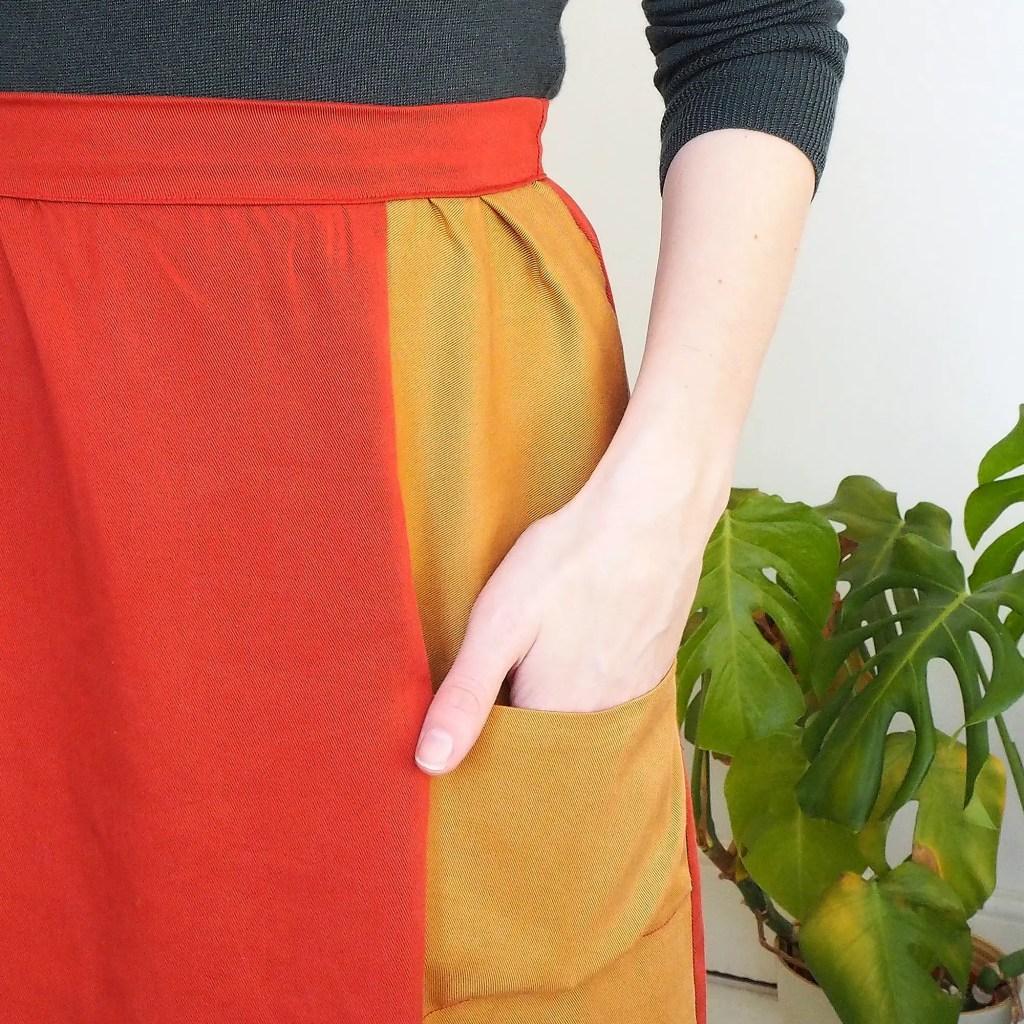 Pocket detail pf teh leda skirt