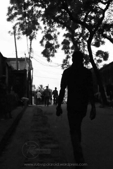 street man in silhouette