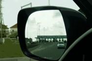 side mirror toll gate
