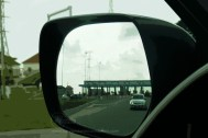 side mirror toll gate