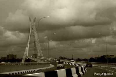 Ikoyi Landmark Bridge Lagos by rubys polaroid