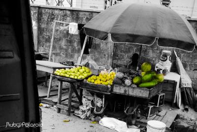 Wayside Fruit Seller by Rubys polaroid