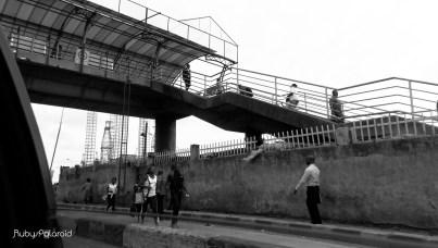 CMS Lagos Pedestrian bridge by rubys polaroid