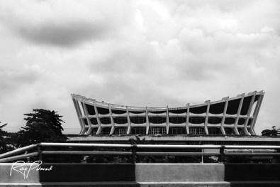 National Theatre Lagos BW by rubys polaroid