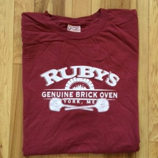 Soft maroon cotton t-shirt.