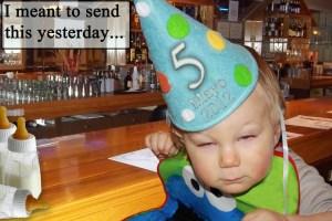 Noah drank too much Milk on Cinco de Mayo