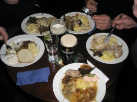 You just can't beat a potluck game dinner at the local pub! Drumcondra, Co. Meath Ireland