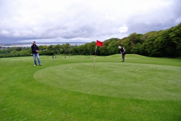 A beautiful location above the Howth Bay at Deer Park Castle course