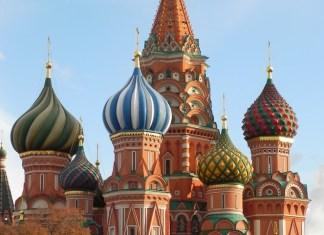 Basilius-Kathedrale Moskau mit Zwiebeltürmen