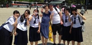 Schulkinder in Nara