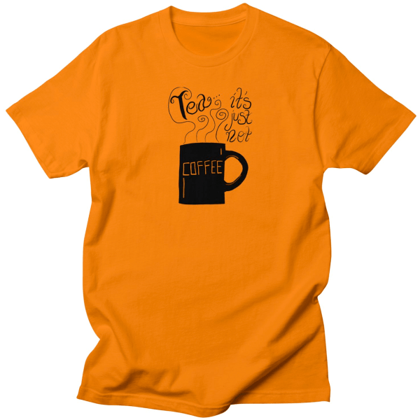NEW in the Rucksack Universe shop - get your Tea It's Just Not Coffee t-shirt!