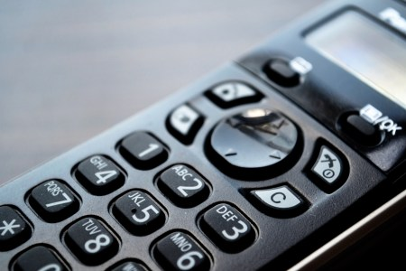 Keypad of a cordless telephone