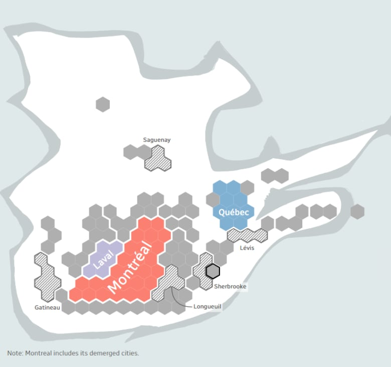 GeoJSON  Version of CBC Quebec Ridings Hex Cartograms with  Example Usage in R