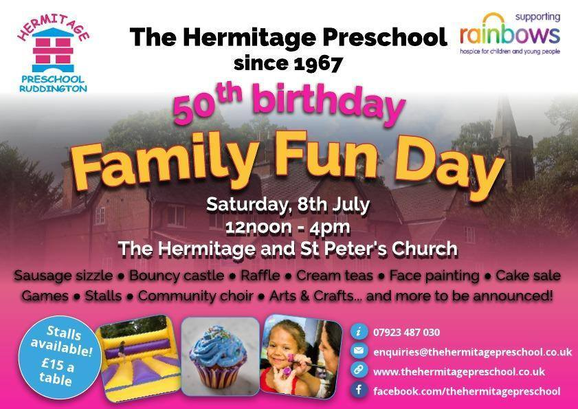 Hermitage Preschool 50th Birthday Family Fun Day Ruddington Info