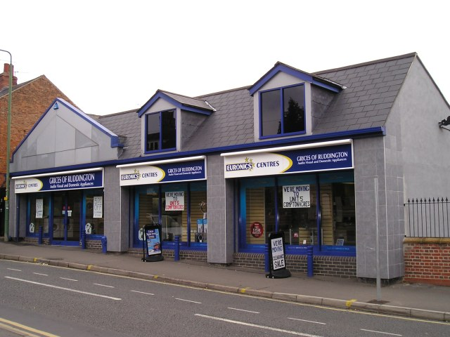 The former Grice's Electricals shop on Dutton's Hill which closed in September 2010