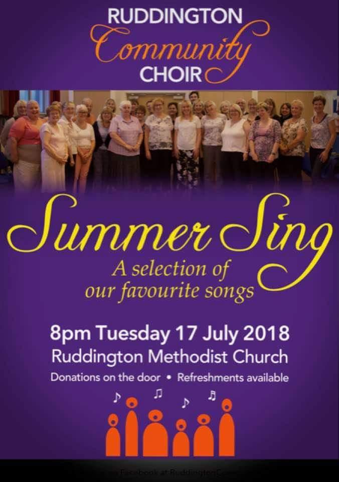 "Ruddington Choir ""Summer Sing"" – RUDDINGTON info"
