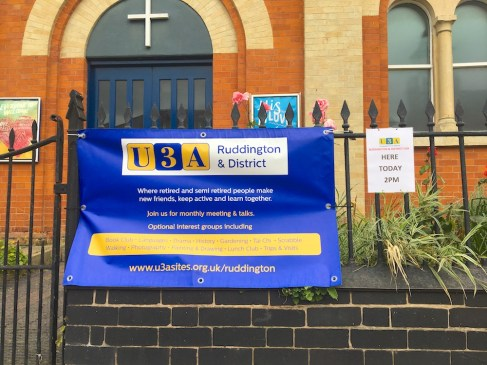 Ruddington & District U3A Meeting @ Methodist Church | Ruddington | England | United Kingdom