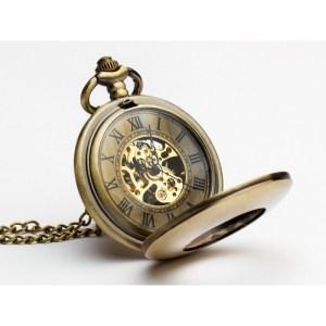 Piękno w brązie smooth – zegarek kieszonkowy