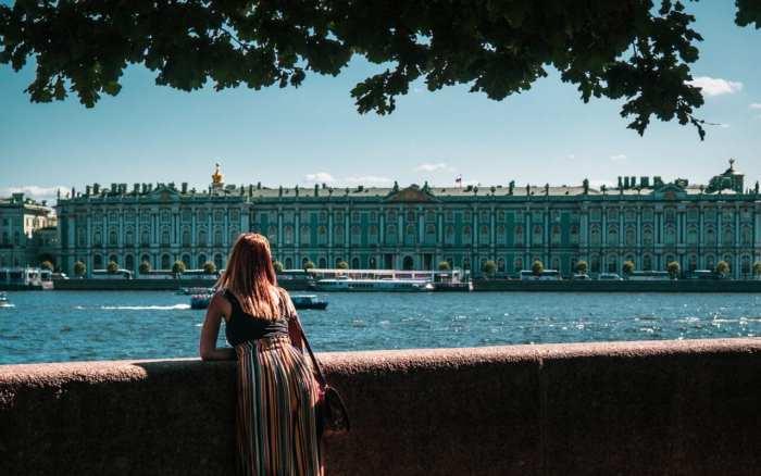 wyspa wasilijewska widok na pałac zimowy