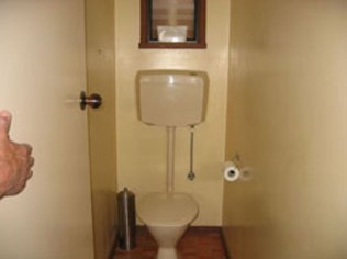 Toilet before renovation