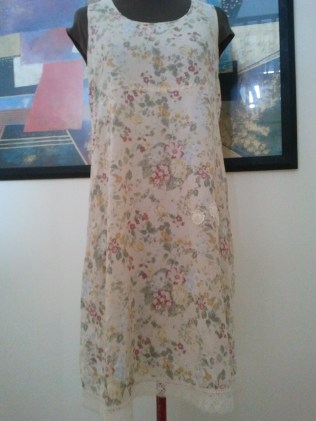 Old rayon frock from clothes swap