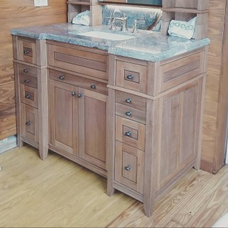 Reclaimed Mahogany Bathroom Vanity