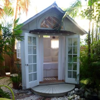 Custom Woodwork, Island Casita and Meditation Room. Key West