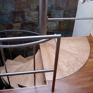 Maple Custom Staircase, Winston Salem, NC