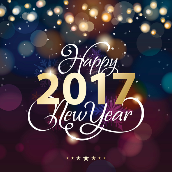 New Year lighting background