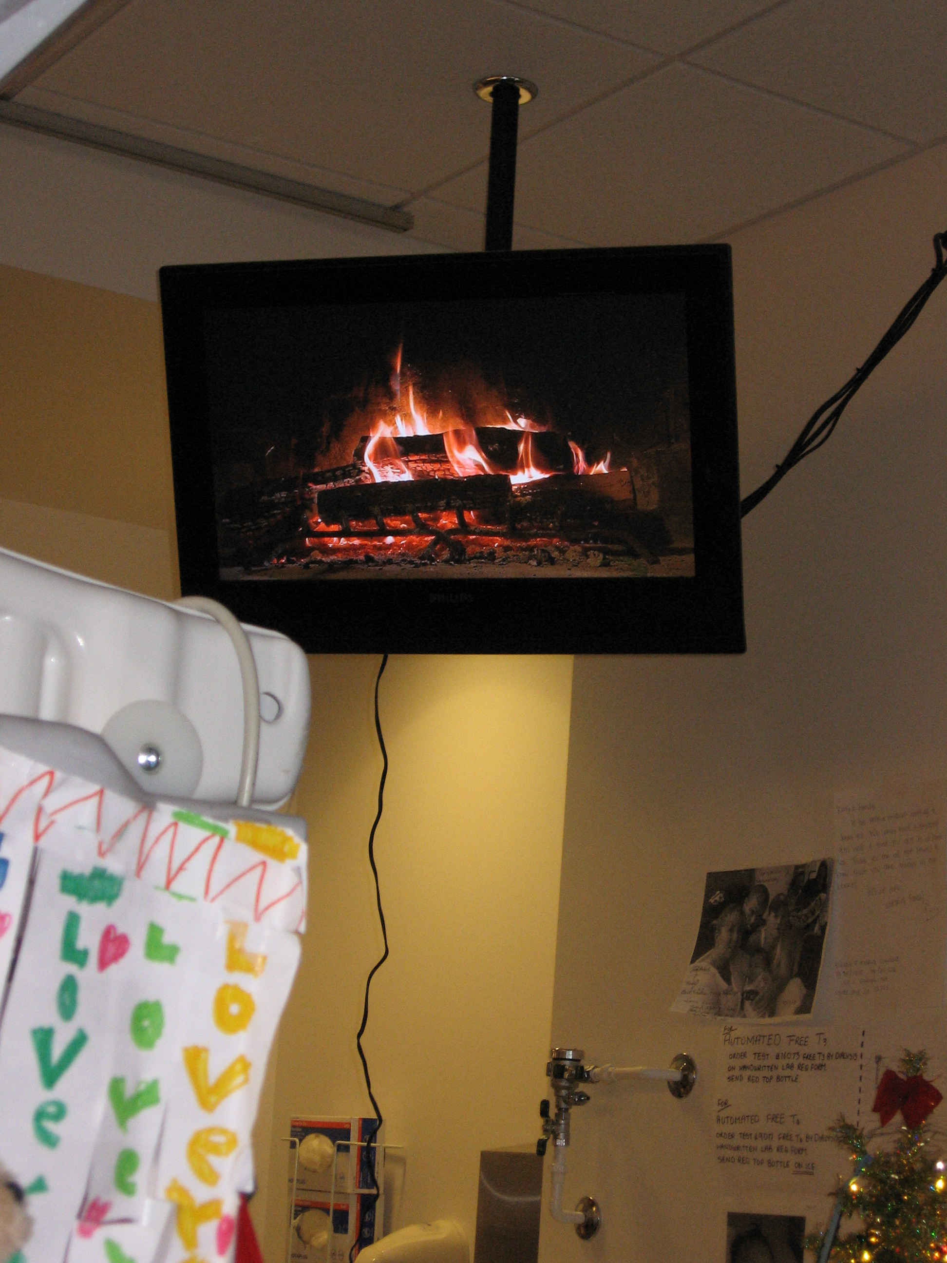 """Rudy's view of the """"yule log"""""""