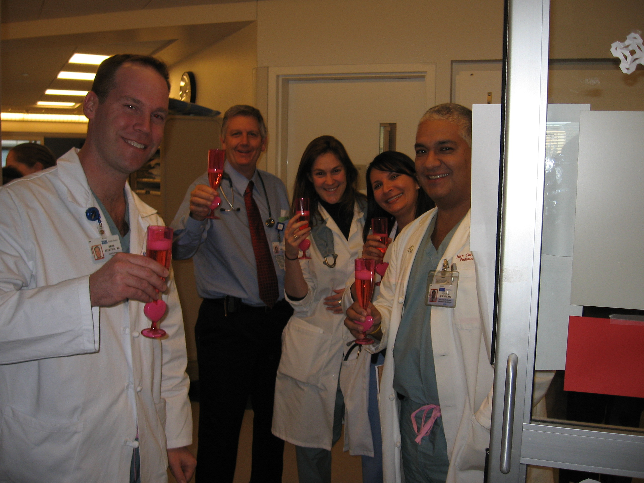Celebration with the Docs during rounds!