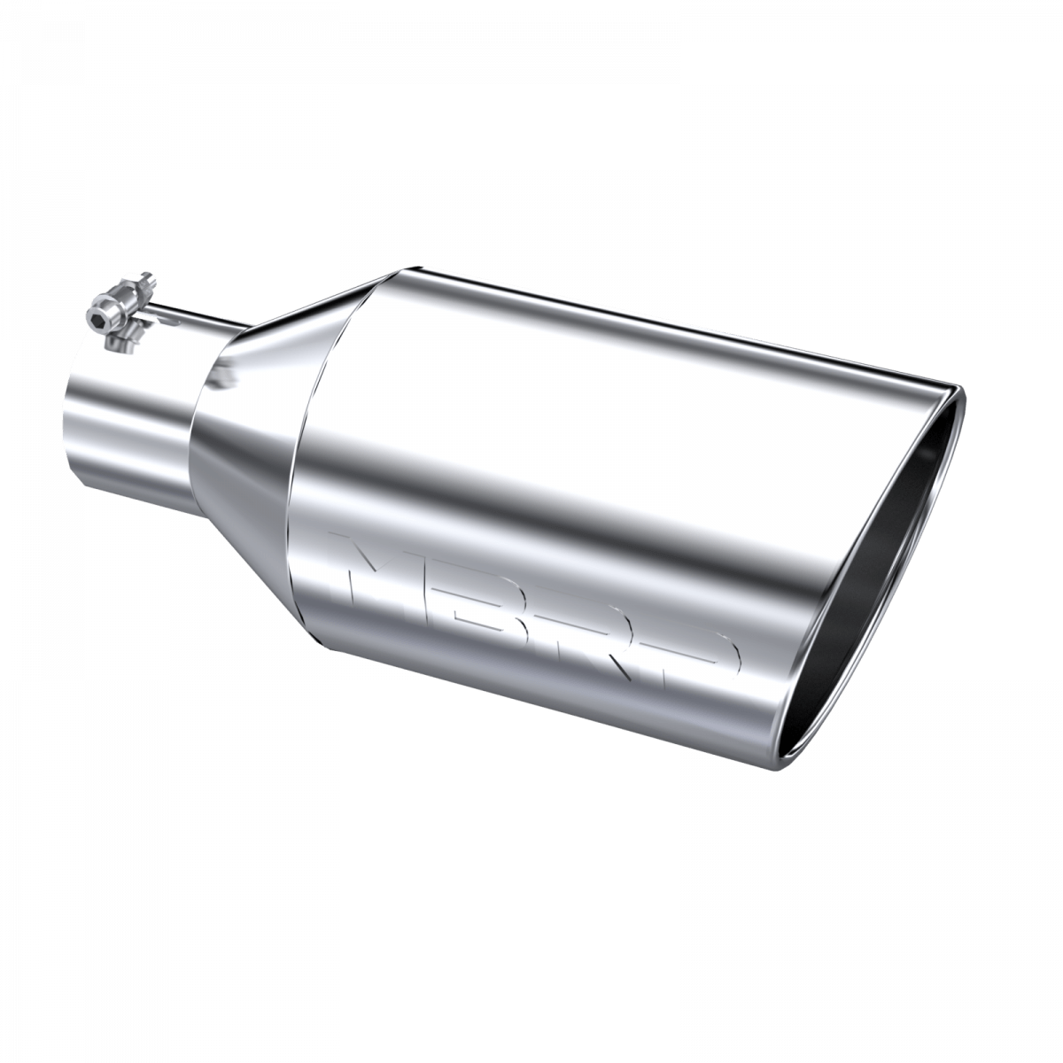 mbrp exhaust tip 8 inch o d rolled end 4 inch inlet 18 inch length t304 stainless steel t5128