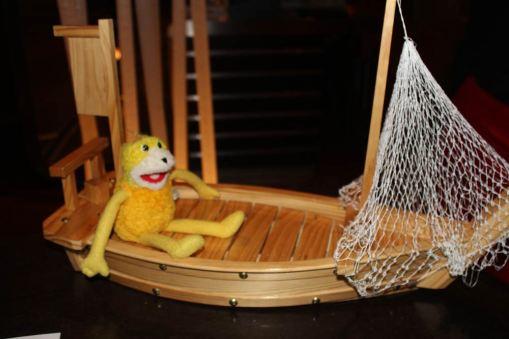 Im Boot auf dem Boot, ich werde Seekrank