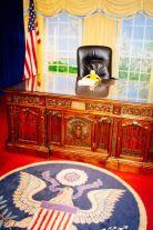 Hier hat mich der Präsident in seinem Büro empfangen