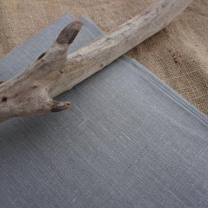 Tissus de lin gris