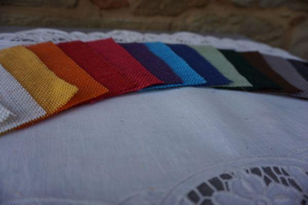 Toile de jute en couleur