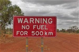 warnschild keine tankmöglichkeit australien