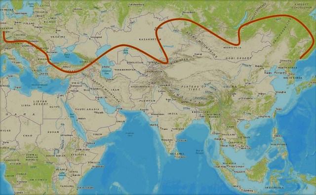 meine route durch nordasien