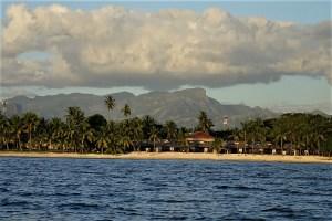 View of the Fiji coast
