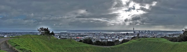 City view Auckland from Mt. Eden