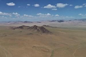 Luftaufnahme in der Mongolei