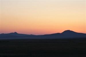 Sonnenuntergang in der Mongolei