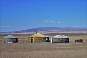 Jurten in der Mongolei
