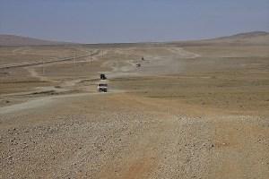 Tracks in Mongolia