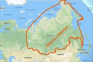 Map Siberia