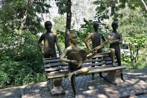 Monument to the Beatles, Almaty, Kazakhstan