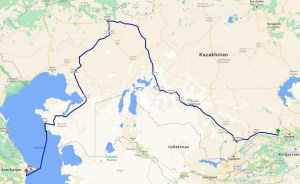 3,200 kilometers through the Kazakh steppe
