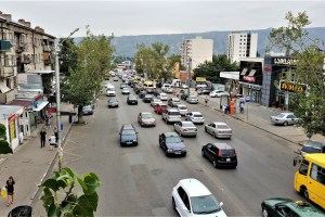 Straße in Tbilissi, Georgien
