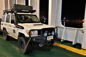Landcruiser on the ferry in Batumi