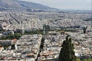 Blick vom Lykabettus Hügel auf Athen